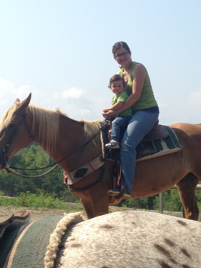 Josiah and Momma Riding Galahad